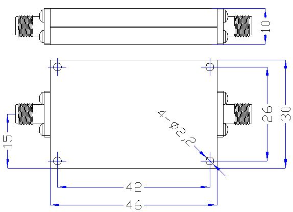 3.0 GHz to 13 GHz Rejection ≥60 dB @ DC-2500MHz High Pass Cavity Filter 01