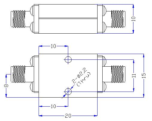 7.0 GHz to 26 GHz Rejection ≥50 dB @ DC-5.85 GHz High Pass Cavity Filter 01