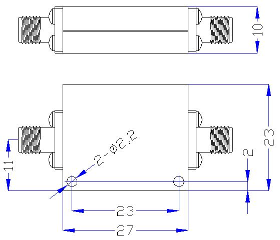 9.0 GHz to 18 GHz Rejection ≥40 dB @ DC-8.4 GHz High Pass Cavity Filter 01