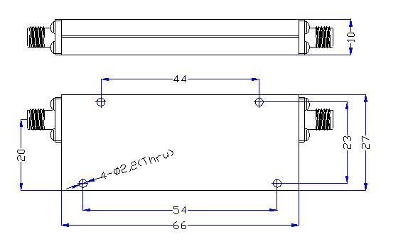 DC-1.25GHz, Rejection: ≥60dB @ 1.52~4.7GHz, Low Pass Cavity Filter OLP-1250 01