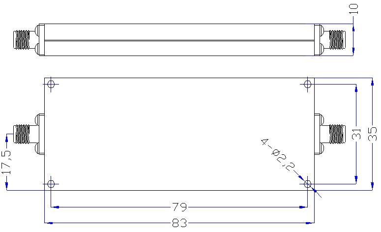 DC-2.0GHz, ≥50dB @ 2.5-13GHz, Low Pass Cavity Filter OLP-2000-B 01