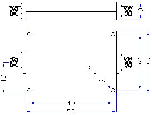 DC-2.3GHz, Rejection ≥50dB @ 2.6-6.9GHz, Low Pass Cavity Filter OLP-2300 01
