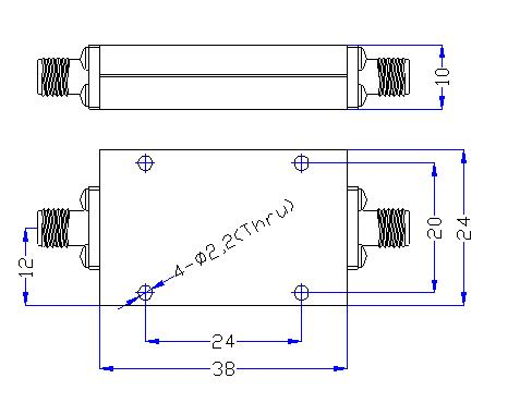 DC-3.5GHz, Rejection ≥60dB @ 4.05~11.5GHz, Low Pass Cavity Filter OLP-3500 01
