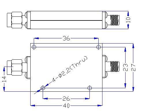 DC-4.5GHz, Rejection ≥50dB @ 5.22~11MHz, Low Pass Cavity Filter OLP-4500-A