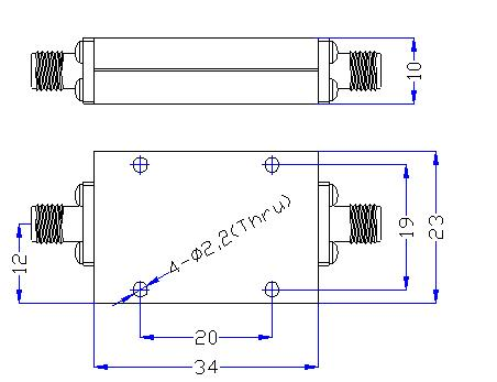 DC-4.5GHz, Rejection: 60dB @ 5.1~13.7GHz, Low Pass Cavity Filter OLP-4500-B 01