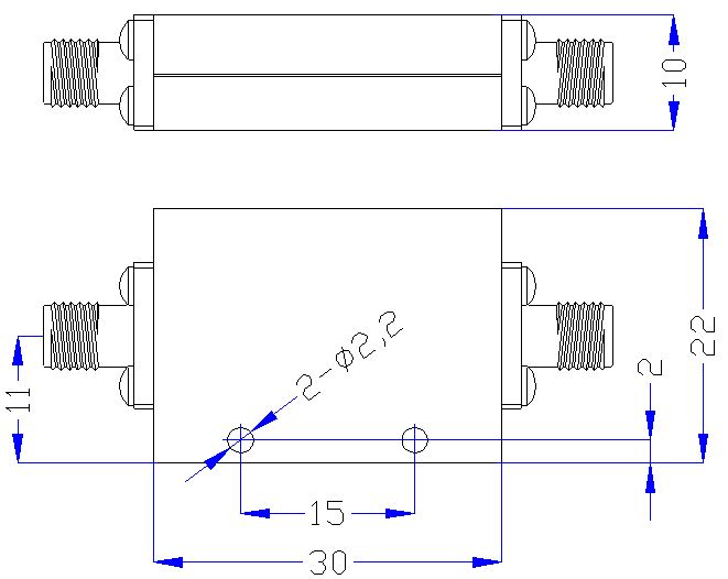 DC-7.0GHz, Rejection ≥40dB @ 7.8-15GHz, Low Pass Cavity Filter OLP-7000